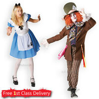 Adult Couples Costume Alice in Wonderland Mad Hatter Fancy Dress Outfit