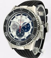 ZENITH El Primero STRATOS FLYBACK STRIKING 1/10. 45mm. COSC Cert.B&P. LNIB  MINT
