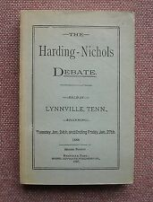The Harding - Nichols Debate on Faith and Modes of Baptism Church of Christ