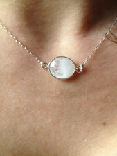 14K Gold-filled or Sterling Silver Rainbow Moonstone Necklace
