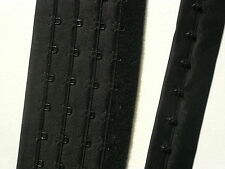 Continuous Hook and Eye Tape. Quadruple Rows .Black. Lingerie Making. 1/2 metre