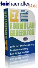 EZ FORMULARGENERATOR Script Formulare verwalten Webseiten Generator MRR-LIZENZ