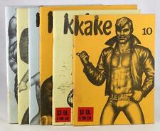 TOM OF FINLAND COMIC KAKE 6 ISSUE LOT HOMOSEXUAL ROUGH TRADE LEATHERMAN