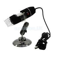200X 2MP 8 LED USB Digital Microscope Endoscope Zoom Camera Magnifier +Stand