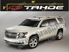 CHEVY TAHOE WINDSHIELD VINYL DECAL STICKER