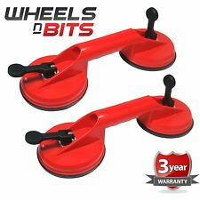 2x DUAL GLASS SUCTION ALUMINIUM CUP LIFTER SUCKER CARRYING GRABBING PULLER 60KG