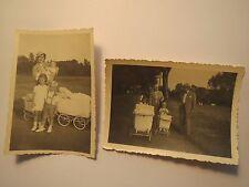 Mann & Frau mit Hut - 3 Kinder Kinderwagen Junge Mädchen Lederhose 1934 / 2 Foto