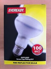 100w Watt ES Screw In E27 Reflector R80 Spotlight Bulb Incandescent Lamp x 4