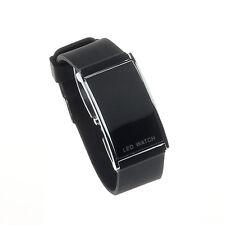 LED Alarm Date Digital Womens Watch Men Sports Rubber Bracelet Wrist Watch Gift