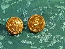2 CANADIAN NAVY BUTTONS BRASS