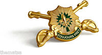ARMY CROSSED SABRES TOUJOURS PRET 2ND CAVALRY  INSIGNIA PIN CHALLENGE COIN