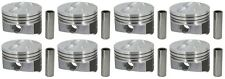 350 Chevy Hyper Pistons 4.060 flattops NEW Coated Skirts Set Of 8