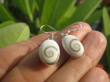 925 Silver Shiva eye shell earrings earring Thailand jewelry art A7