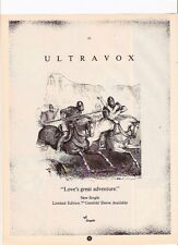 ULTRAVOX Love's Great Adventure UK magazine ADVERT / mini Poster 11x8""