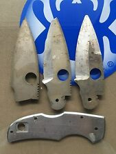 3 Spyderco Native USA Made Unfinished Blades & 1 Scale Novelty