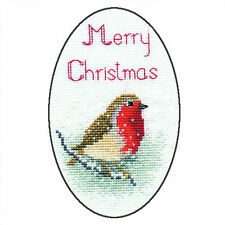 Derwentwater Designs Christmas Cross Stitch Card Kit - Snow Robin