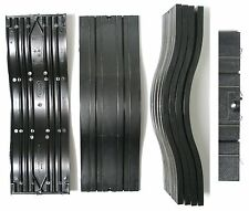 3pc Aurora Model Motoring Slot Car BLACK BUMP ROADWAY TRACK Lock & Joiner 1512