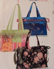"5164 McCall's 2 Sizes Misses Totes Handbag Purse 12"" x 10""x 3"" & 16"" x 12"" x 5"""