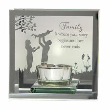 Reflections from the heart family t-lite tea light candle holder cadeau d'anniversaire