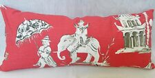 PAGODA ROAD-Azalea Red-Throw Pillow, Lumbar pillow Cover/ All size