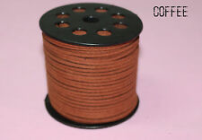 wholesale new 10yd 3mm coffee Suede Leather String Jewelry Making Thread Cords
