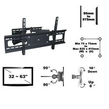 "Full Motion Flat TV Mount 32-63"" Tilt Swivel Articulating 800x400 Brateck PA-948"