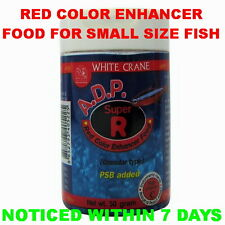 ADP SUPER RED WHITE CRANE Small Fish Food Increase Color Granule Pellets Guppy