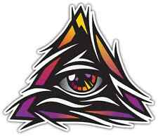 "Illuminati All-seeing Eye of Providence Car Bumper Window Sticker Decal 5""X4"""