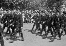 Negativ-1930-Darmstadt-Hessen-Aufmarsch-Standarte 33-uniform-Rhein-Main-Gebiet-2