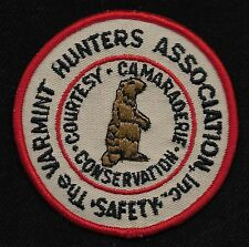 The VARMINT HUNTERS ASSOCIATION Inc. Collectors Patch - New Old Stock