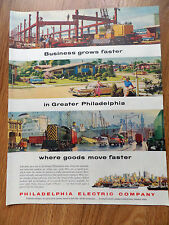 1960 Philadelphia Electric Company Ad Business Grows Faster Goods Move Faster