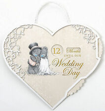 Me to You TATTY TEDDY Bear WEDDING DAY Countdown Hanging Plaque Engagement Gifts