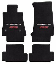 NEW! Black Carpet Floor Mats 2016-2017 Camaro Embroidered RS Double Logo Red 4pc