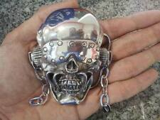 MEGADETH BELT BUCKLE ANTHRAX METALLICA SKULL HEAD ROCK MOTOR IRON VTG MINT VIC