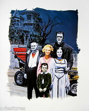 THE MUNSTERS (1965) Vic Prezio MONSTER WORLD Art Print FAMOUS MONSTERS Poster!