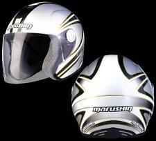 jet-helm faser motorroller Helm casque Marushin c147 Koubai Weiß Größe L