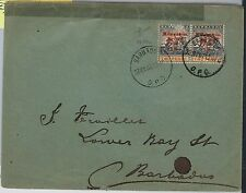 BARBADOS - POSTAL HISTORY - SG 153 pair on COVER 1907 - with BRANDON certificate