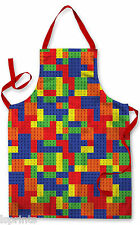 BUILDING BRICK CHILDRENS APRON BAKING PAINTING WATER PLAY ARTS & CRAFTS