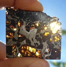 9.9 gram SEYMCHAN METEORITE pallasite  - Beautiful GLOWING CRYSTALS