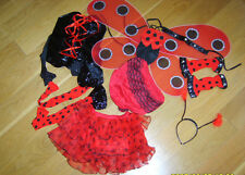 LADIES SEXY LADYBIRD LADY BIRD BUG INSECT FANCY DRESS COSTUME XS NEW