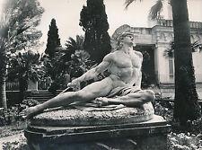 ÎLE DE CORFOU c. 1935 - Achilléion Les Jardins Statue d'Achille Grèce - Div 8228