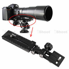 Long-Zoom Lens Bracket Holder + Camera Quick Release Plate for Tripod Mount Ring
