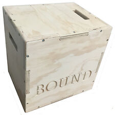 BOUND© 3in1 Wood Puzzle Plyo Box - 16x18x20 inch - Crossfit Training, MMA
