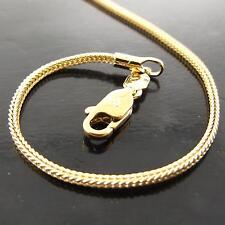 A160 GENUINE REAL 18K YELLOW G/F GOLD SOLID LADIES SNAKE PENDANT NECKLACE CHAIN