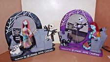 NIGHTMARE BEFORE CHRISTMAS PHOTO FRAME 2 PC COLLECTION JACK & SALLY NWT'S