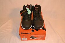 AND1 Mens Playoff High-Top Basketball Shoe Sneaker Black US Size 7 New in Box FR