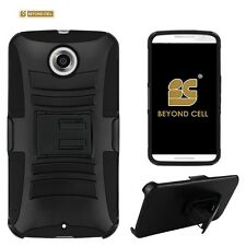 Hard Shell Case Combo for Google Nexus 6 w/ built-in Holster & kickstand - Black