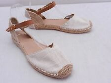 Womens 7.5 SPERRY TOP-SIDER Textile Leather Ankle Ankle Strap Espadrilles Flats