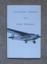 Instruction Manual for Ford Trimotor Airplane (Paperback)