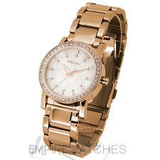 **NEW** DKNY LADIES SWAROVSKI CRYSTAL ROSE GOLD WATCH - NY8121 - RRP £145.00